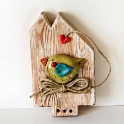 Oiseau et petit coeur