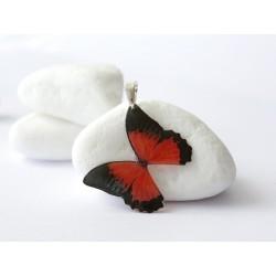 Pendentif papillon rouge