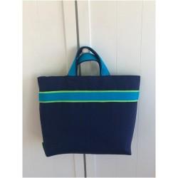 Grand sac cabas bleu marine...